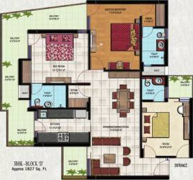 1827 sqft, 3 bhk Apartment in Golden Apartments Dhakoli, Zirakpur at Rs. 58.6500 Lacs
