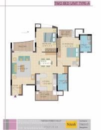 1347 sqft, 2 bhk Apartment in Nitesh Flushing Meadows Sai Baba Ashram, Bangalore at Rs. 20000