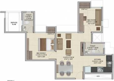540 sqft, 1 bhk Apartment in Wadhwa Wise City Panvel, Mumbai at Rs. 44.0000 Lacs