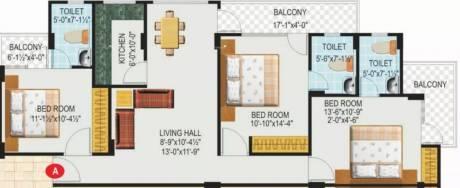 1500 sqft, 3 bhk Apartment in SDC Green Park Adarsh Nagar, Jaipur at Rs. 95.0000 Lacs