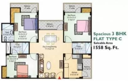 1558 sqft, 3 bhk Apartment in Okay Plus Venus Jagatpura, Jaipur at Rs. 15000