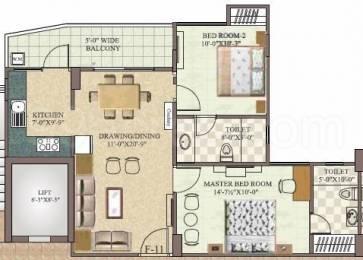 1060 sqft, 2 bhk Apartment in Aashish Pamposh Jagatpura, Jaipur at Rs. 30.7400 Lacs
