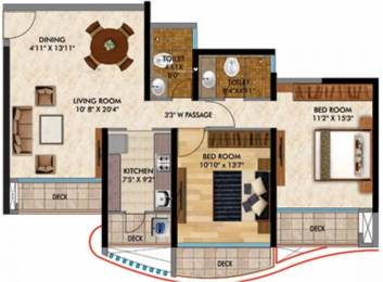 1566 sqft, 2 bhk Apartment in RNA Continental Chembur, Mumbai at Rs. 60000