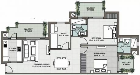 1530 sqft, 2 bhk Apartment in Supertech Araville Sector 79, Gurgaon at Rs. 1.0400 Cr