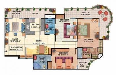 1873 sqft, 3 bhk Apartment in Rishabh Rishabh Platinum Ahinsa Khand 2, Ghaziabad at Rs. 78.0000 Lacs