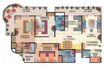 1873 sqft, 3 bhk Apartment in Rishabh Rishabh Platinum Ahinsa Khand 2, Ghaziabad at Rs. 75.0000 Lacs