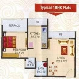 635 sqft, 1 bhk Apartment in Today Pride Paradise Kamothe, Mumbai at Rs. 49.0000 Lacs