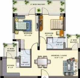 1260 sqft, 2 bhk Apartment in Shiv Park 1 Apartments Sector 87, Faridabad at Rs. 45.7100 Lacs