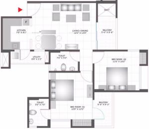 1120 sqft, 2 bhk Apartment in BCC Bharat City Indraprastha Yojna, Ghaziabad at Rs. 38.8870 Lacs