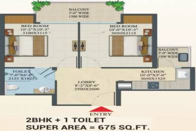 675 sqft, 2 bhk Apartment in Migsun Migsun Roof Raj Nagar Extension, Ghaziabad at Rs. 10.5989 Lacs
