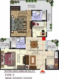 1180 sqft, 2 bhk Apartment in Andromida Planet One Indraprastha Yojna, Ghaziabad at Rs. 33.9901 Lacs
