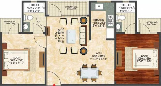 976 sqft, 2 bhk Apartment in LandCraft River Heights Raj Nagar Extension, Ghaziabad at Rs. 28.2942 Lacs