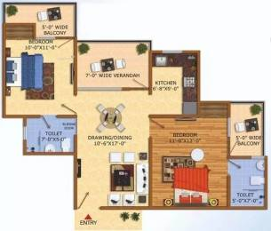 1095 sqft, 2 bhk Apartment in Uninav Heights Raj Nagar Extension, Ghaziabad at Rs. 29.5650 Lacs