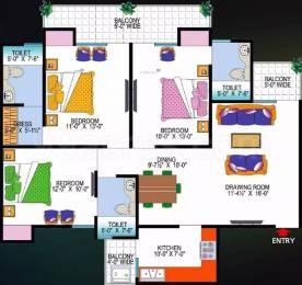 1625 sqft, 3 bhk Apartment in Super OXY Homez Indraprastha Yojna, Ghaziabad at Rs. 43.0000 Lacs