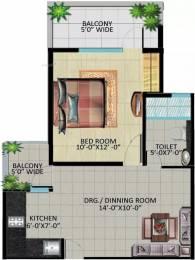 590 sqft, 1 bhk Apartment in Devika Skypers Raj Nagar Extension, Ghaziabad at Rs. 18.5000 Lacs