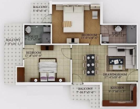 1075 sqft, 2 bhk Apartment in Javin Raj Empire Raj Nagar Extension, Ghaziabad at Rs. 25.8010 Lacs