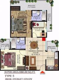 1180 sqft, 2 bhk Apartment in Andromida Planet One Indraprastha Yojna, Ghaziabad at Rs. 33.0999 Lacs