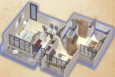 1122 sqft, 2 bhk Apartment in Builder Project Roadpali, Mumbai at Rs. 73.0000 Lacs