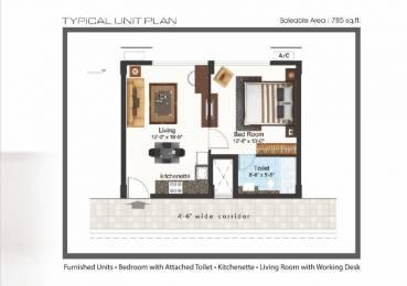 785 sqft, 1 bhk Apartment in Builder DNOxy Park Bhubaneswar Dumduma, Bhubaneswar at Rs. 42.0000 Lacs