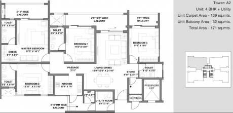 2393 sqft, 4 bhk Apartment in Godrej Air Sector 85, Gurgaon at Rs. 1.6100 Cr