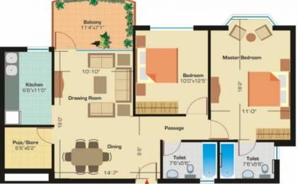 1140 sqft, 2 bhk Apartment in Ashiana Utsav Sector 12 Bhiwadi, Bhiwadi at Rs. 33.0000 Lacs