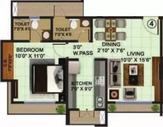 750 sqft, 1 bhk Apartment in Bhoomi Acres Thane West, Mumbai at Rs. 65.0000 Lacs