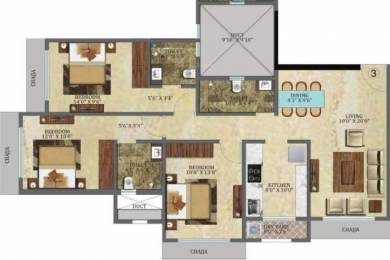 1600 sqft, 3 bhk Apartment in Veena Crest Andheri West, Mumbai at Rs. 2.5500 Cr