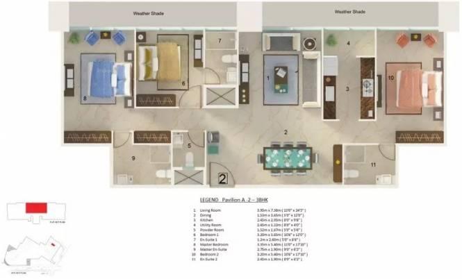 2092 sqft, 3 bhk Apartment in DB Orchid Crown Prabhadevi, Mumbai at Rs. 5.5000 Cr