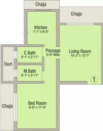 650 sqft, 1 bhk Apartment in Makwana Krishna Palace Borivali West, Mumbai at Rs. 99.0000 Lacs