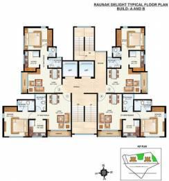 580 sqft, 1 bhk Apartment in Raunak Delight Thane West, Mumbai at Rs. 52.0000 Lacs