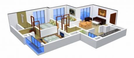 1330 sqft, 3 bhk Apartment in Vijay Nakshatra Thane West, Mumbai at Rs. 25000