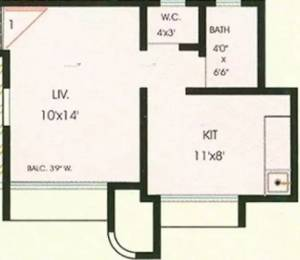 390 sqft, 1 bhk Apartment in Lok Prabhat Virar, Mumbai at Rs. 24.0000 Lacs