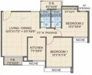 940 sqft, 2 bhk Apartment in Laxmi Avenue D Global City Virar, Mumbai at Rs. 33.0000 Lacs