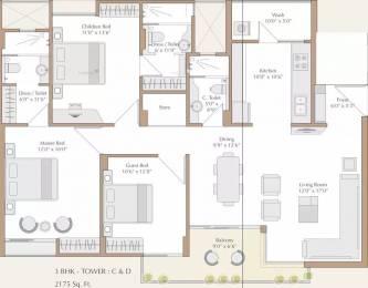 2175 sqft, 3 bhk Apartment in Nilamber Bellissimo II Bhayli, Vadodara at Rs. 1.0000 Cr