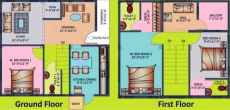 1300 sqft, 3 bhk Villa in Suchirindia Odyssey Ghatkesar, Hyderabad at Rs. 55.0000 Lacs