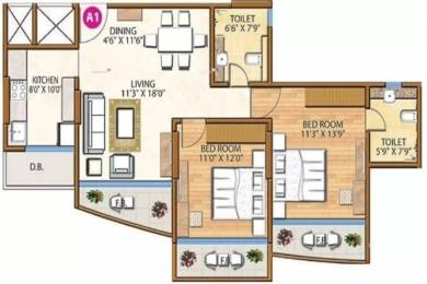 1585 sqft, 2 bhk Apartment in Ariisto Sapphire Santacruz West, Mumbai at Rs. 1.2000 Lacs