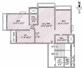 1098 sqft, 2 bhk Apartment in Trisons Nichbella Chembur, Mumbai at Rs. 2.5000 Cr