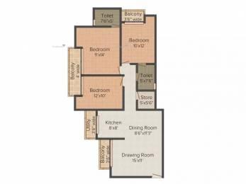 1385 sqft, 3 bhk Apartment in Prateek Wisteria Sector 77, Noida at Rs. 19000