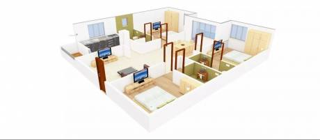 1520 sqft, 3 bhk Apartment in Omsree Patels Green Park Yapral, Hyderabad at Rs. 20000