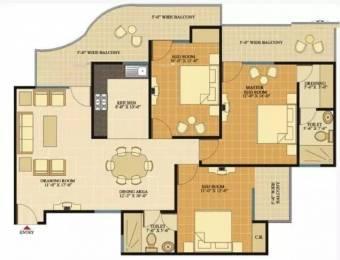 1560 sqft, 3 bhk Apartment in SVP Gulmohur Tower Shastri Nagar, Ghaziabad at Rs. 65.0000 Lacs