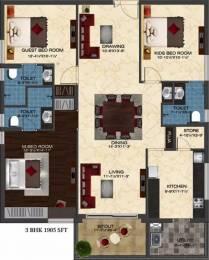 1905 sqft, 3 bhk Apartment in Ashoka Liviano Narsingi, Hyderabad at Rs. 42000