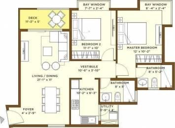 1098 sqft, 2 bhk Apartment in Bhartiya Nikoo Homes Kannur on Thanisandra Main Road, Bangalore at Rs. 69.0000 Lacs