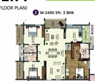 2490 sqft, 3 bhk Apartment in Builder Rajapushpa Atria Kokapet, Hyderabad at Rs. 47000