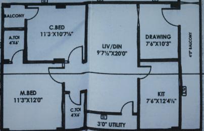 1135 sqft, 2 bhk Apartment in Builder Kolan Raji Reddy Heights Nizampet, Hyderabad at Rs. 15000