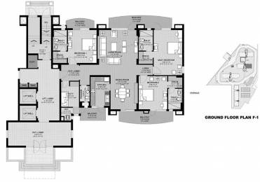 2368 sqft, 3 bhk Apartment in Unitech Uniworld City South Sector 30, Gurgaon at Rs. 50000