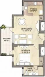 747 sqft, 1 bhk Apartment in Vipul Gardens Sector 1 Dharuhera, Dharuhera at Rs. 24.0000 Lacs