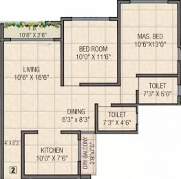 1125 sqft, 2 bhk Apartment in Dimples Galassia Dahisar, Mumbai at Rs. 1.7500 Cr