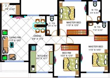 1660 sqft, 3 bhk Apartment in Avirahi Homes Borivali West, Mumbai at Rs. 2.2500 Cr