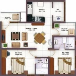1004 sqft, 2 bhk Apartment in Vishraam Sarang Homes Punkunnam, Thrissur at Rs. 11500