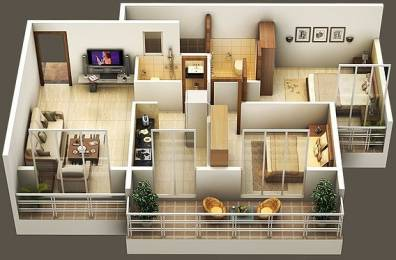 1050 sqft, 2 bhk Apartment in Amrut Sai Amrut Paradise Karanjade, Mumbai at Rs. 56.0000 Lacs